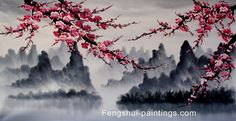 Cherry Blossom Tree Painting | Feng Shui Paintings Hand Painted by Feng Shui Masters: