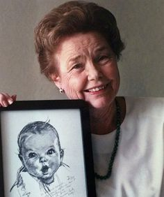 The Gerber Baby~ Gerber baby food company held a contest in 1928 to find an adorable new face for its new ad campaign. Artist Dorothy Hope Smith's sketch won, but the baby's name was a secret until 1978 when Ann Turner Cook announced that she was the famous baby.
