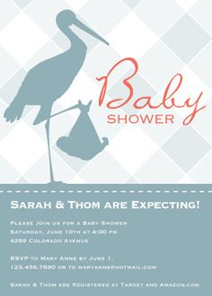 A simple, traditional #babyshower invite.