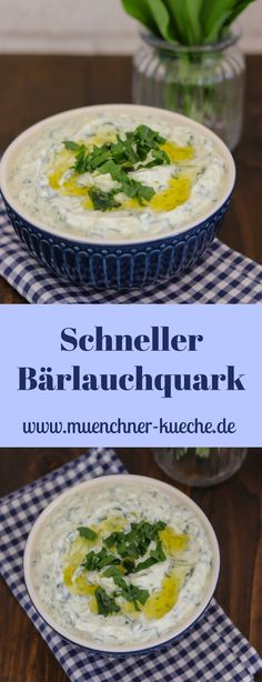 Wenn ihr fleißig Bärlauch gesammelt habt, dann macht doch diesen schnellen Bärlauchquark. Der schmeckt super zu Gegrilltem, Kartoffeln oder auch als Dip.   www.muenchner-kueche.de #bärlauch #dip #aufstrich