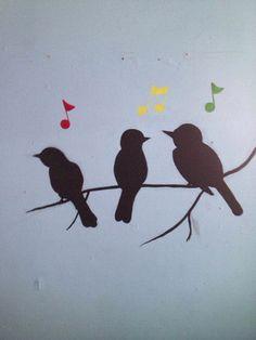 Three little birds mural