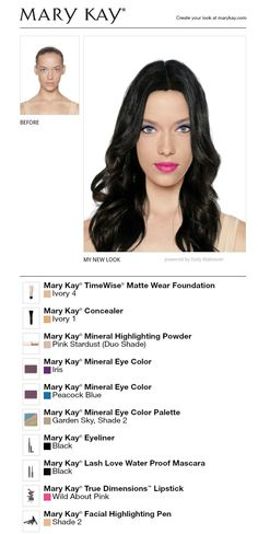 Mary Kay makeup!  www.marykay.com/hgjoen and please follow me at www.facebook.com/beautifulyoumarykay