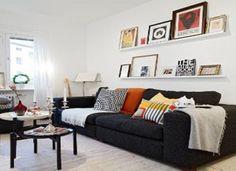 Cómo decorar con un sofá negro