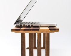 Bedside Laptop Table Wood Lap Desk Sofa Table End Table KOKO