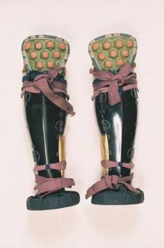 Pair of shinguards Space Knight, Samurai Armor, Archetypes, Woodblock Print, Airsoft, Gladiator Sandals, Armour, Cosplay, Japanese