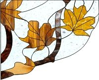 Window corners - autumn var1 stained glass and window cling pattern for fall leaves in a window corner pattern [0]$2.00 | PDQ Patterns