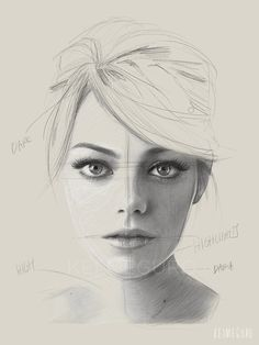 Kei Meguro's Emma Watson drawing