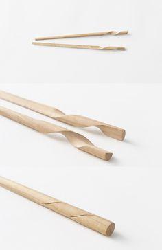 Combining Spiral Chopsticks http://stuffyoushouldhave.com/combining-spiral-chopsticks/