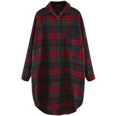Green Plaid Thick Long Sleeve Loose Womens Blouse (1,435 DOP) ❤ liked on Polyvore featuring tops, blouses, shirts, dresses, flannel, long-sleeve shirt, loose shirts, flannel shirt, long sleeve plaid shirt and plaid flannel shirt