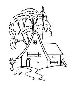 houses to embroider - Google Search