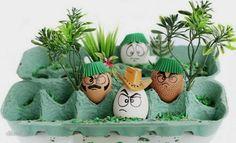 Bastelideen für Ostern eierverpackung