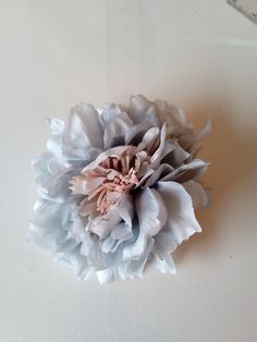 Peony - Vintage powder blue - millinery, millinery supplies, trim, races, hats, fascinators, wedding, hair accessories