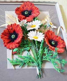 Image result for pinterest poppies quilling