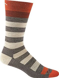 Camp Clothing - Darn Tough Vermont Mens Warlock Crew Light Cushion Hiking Socks *** You can get more details by clicking on the image.