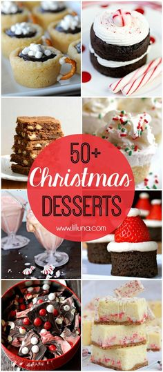 50+ Christmas Desserts - a roundup of MUST SEE desserts, perfect for Christmas parties, and neighborhood gifts!! { lilluna.com }