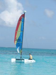 Sailing away at Beaches Turks & Caicos
