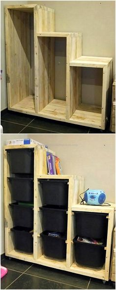 pallet laundary storage cabinets #pallets #woodpallet #palletfurniture #palletproject #palletideas #recycle #recycledpallet #reclaimed #repurposed #reused #restore #upcycle #diy #palletart #pallet #recycling #upcycling #refurnish #recycled #woodwork #woodworking