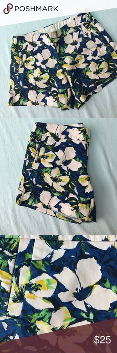 """J. Crew 5"""" Floral Shorts Floral shorts with 5"""" inseam and two side pockets, two pockets in the back. Side zipper J. Crew Shorts"""