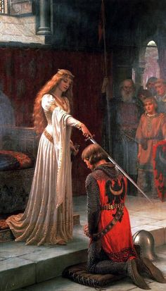The Accolade, Edward Leighton Blair. My wedding dress was based on this work.