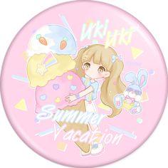 ■UkiUkiSummerVacation Badge(ピンク) - PHOOEY SHOP