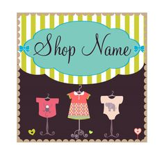 Banner with Avatars Etsy shop set kids by BannerDesignShop on Etsy