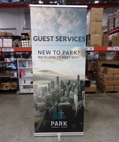 We're excited to be just a small part of all that Park Community Church is doing in the city of Chicago by helping them connect with first-time guests. Portable Signs, Portable Display, Church Signs, Church Banners, Retractable Banner, Banner Stands, Kiosk, Service Design, Desks