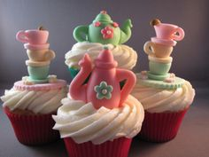 Yummy Cupcakes - great idea for a ladies tea