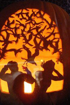 the birds pumpkin