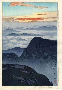 HIROSHI YOSHIDA (1876-1950)  Title: SUNRISE ON EBOSHIDAKE