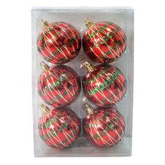 Picture of 6 Count Tinsel Stripe Ornament