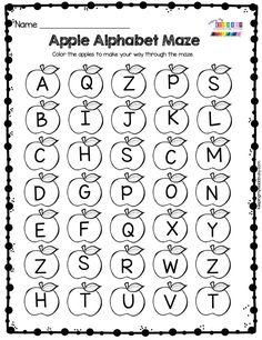 Alphabet Activities Kindergarten, Kindergarten Homework, Kindergarten Freebies, Kindergarten First Day, Kindergarten Lesson Plans, Back To School Activities, Math Activities, Letter Recognition, Free Printables