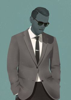 Jack Hughes' scotch sipping, cigarette smoking illustrated dandies are an absolute joy Pop Art Illustration, Free Illustrations, Character Illustration, Fashion Illustrations, Freelance Illustrator, Character Design, Character Art, Tumblr, Cartoon