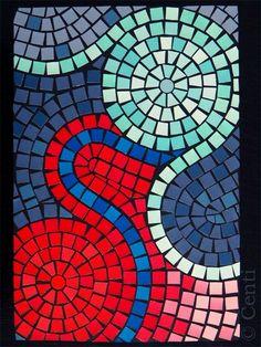 Ein geheimnisvoller Zwang überkommt mich offenbar immer im Herbst. Ich muss Mosaike basteln. Mosaiken? Weiß der Henker. Schnipselbilder. D... Paper Mosaic, Mosaic Crafts, Mosaic Projects, Mosaic Art, Mosaic Glass, Mosaic Tiles, Glass Art, Stained Glass, Mosaics For Kids