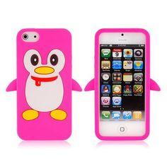 Accessori Custodia a forma di pinguni per iphone5 rosa € 3,79