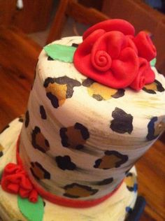 LEOPARD PRINT: MY WAY - by Kendra Hicks @ CakesDecor.com - cake decorating website