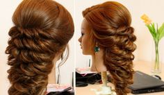 Hairstyles for long hair hair style ideas Easy Hairstyles Prom Hairstyles For Long Hair, Easy Hairstyles For Medium Hair, Romantic Hairstyles, Wedding Hairstyles For Long Hair, Trendy Hairstyles, Medium Hair Styles, Braided Hairstyles, Long Hair Styles, Braided Updo