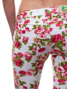 Floral Printed Knit Skinny