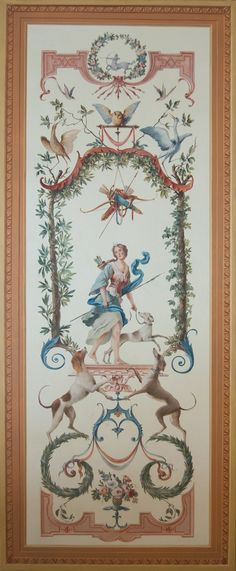 Ornamental panel with Diana