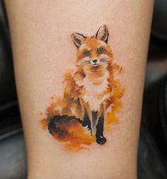 Brilliant Fox Tattoos on Leg You Will Surely Love