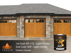 Sansin Stain - Naturally perfect wood protection. Garage Doors. Wood Doors. Wood Stain.