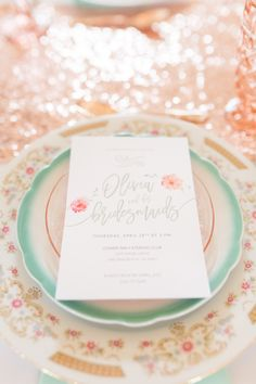 Let's Wed Hampton Roads Bridesmaid Luncheon Invitation by Angie McPherson Photography
