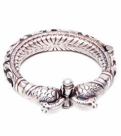 Sharada Silver Shop 925 Oxidised Silver Bangle Product Code Sss
