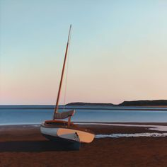 Jim Holland (1955 - Present), American Artist - Beached Catboat - 36 x 36