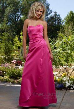 A-line Sweetheart Floor-length Satin Bridesmaid Dresses 1178478L
