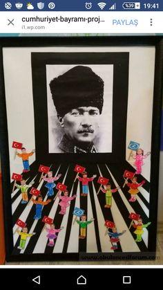 Atatürk project work - New Deko Sites School Decorations, Christmas Door Decorations, Preschool Art, Preschool Activities, International Children's Day, Diy And Crafts, Crafts For Kids, Reading Themes, Act For Kids