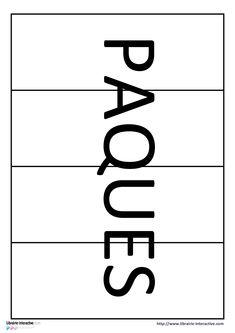 Un puzzle 4 pièces avec le mot PÂQUES Puzzles, Cycle 1, Preschool, Words, Gaming, Puzzle, Riddles