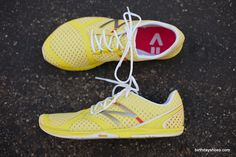 lookign down and seeing yello shoes would definitely make me a little happier while working out