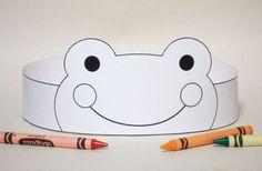 Corona de papel rana de COLOR su imprimible por PutACrownOnIt
