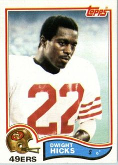 1982 Topps # 485 Dwight Hicks San Francisco 49ers Football Card - In Protective…