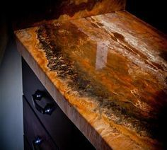 DIY Countertop, bar top, and flooring epoxy. So cool and way less expensive than… DIY Countertop, bar top, and flooring epoxy. So cool and way less expensive than granite. Refinish Countertops, Diy Concrete Countertops, Kitchen Countertops, Countertop Makeover, Concrete Floors, Epoxy Resin Countertop, Stone Coat Countertop, Epoxy Concrete, Concrete Bar